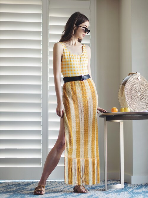 Yulia F. Kirpalani is wearing MISSONI