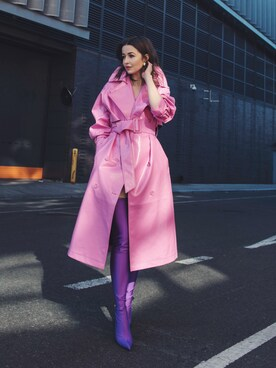 「Balenciaga Stretch Pointed-Toe Over-the-Knee Boot, Ultraviolet(BALENCIAGA)」 using this Yulia F. Kirpalani looks