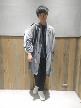 RAGEBLUE町田モディ店|井上 雄太さんのチェスターコート「ライトウェイトチェスターコート/749131(RAGEBLUE|レイジブルー)」を使ったコーディネート