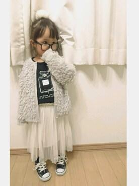 coco★haruさんの「香水プリント長袖Tシャツ(BRANSHES)」を使ったコーディネート