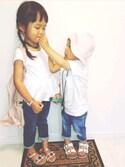 「BABY RIB STRAIGHT PANTS(Lee)」 using this coco★haru looks