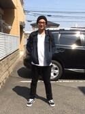 masamune watoさんの「SUNGLASSES-E(GDC|ジーディーシー)」を使ったコーディネート