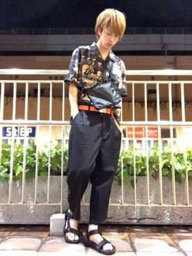 「WEGO/トロピカルオープンカラーシャツ(WEGO)」 using this こう looks