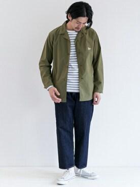 URBAN RESEARCH DOORS|Taniさんのカバーオール「DOORS French Shirts Jacket(URBAN RESEARCH DOORS MENS|アーバンリサーチ ドアーズ メンズ)」を使ったコーディネート