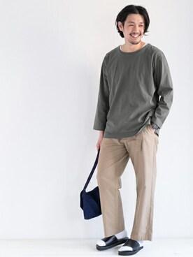 WEB事業部 TaniさんのTシャツ/カットソー「DOORS Faded C/N Big Tee(URBAN RESEARCH DOORS MENS アーバンリサーチ ドアーズ メンズ)」を使ったコーディネート