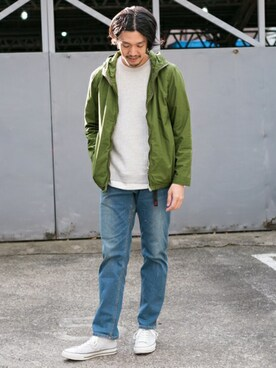 URBAN RESEARCH DOORS|Taniさんのブルゾン「DOORS Color Zip Parker (URBAN RESEARCH DOORS MENS|アーバンリサーチ ドアーズ メンズ)」を使ったコーディネート