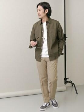 WEB事業部|Taniさんのシャツ/ブラウス「DOORS ブロード L/S SH(URBAN RESEARCH DOORS MENS|アーバンリサーチ ドアーズ メンズ)」を使ったコーディネート