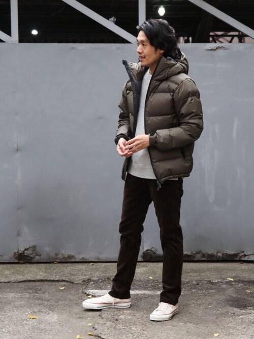 ダウンアウターでメンズの冬ファッションコーデにラフ感と旬感を