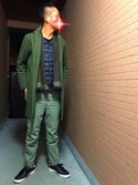 rintosaku papaさんの「MEN ウルトラライトダウンコンパクトVネックベスト(ユニクロ|ユニクロ)」を使ったコーディネート