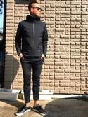 rintosaku papaさんの「MEN ブロックテックパーカ(無地)(ユニクロ|ユニクロ)」を使ったコーディネート