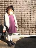 rintosaku papaさんの「【キッズ】ニットタイツワンポイント/727902(GLOBAL WORK|グローバルワーク)」を使ったコーディネート