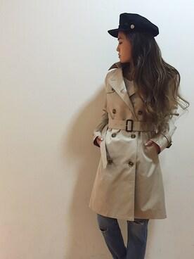 UNRELISH 広島PARCO店|ishida_meiさんの「ライナー付きトレンチコート(UNRELISH|アンレリッシュ)」を使ったコーディネート