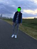 拓真さんの「MEN ウルトラライトダウンコンパクトVネックベスト(ユニクロ|ユニクロ)」を使ったコーディネート