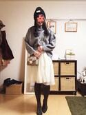 zhenmei*さんの「スポンディッシュタートルプルオーバー【niko and ...】(niko and...|ニコアンド)」を使ったコーディネート