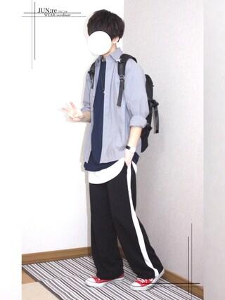JUNKI☪︎:Reさんの「7分袖BIG Tシャツ(Lui's|ルイス)」を使ったコーディネート
