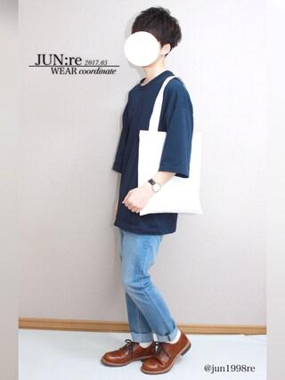 「7分袖BIG Tシャツ(Lui's)」 using this JUN:re looks