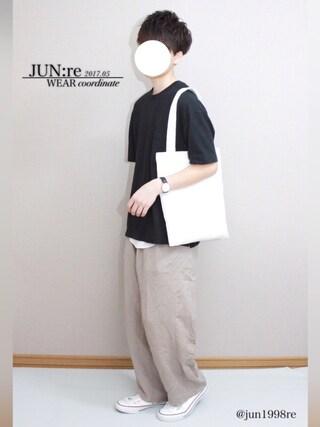 「リネンワイドパンツ(HARE)(HARE)」 using this JUN:re looks