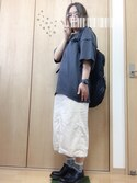 aosukeさんの「BIG LONGTシャツ【niko and ...】(niko and...)」を使ったコーディネート