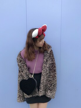 one after another NICE CLAUP名古屋ワンダーシティ店|mihoさんの「フェイクファーコート(one after another NICE CLAUP)」を使ったコーディネート