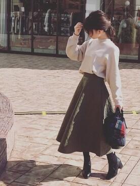 ♥hapiko♥さんの「サイドゴアショートブーツ(OVoVO)」を使ったコーディネート