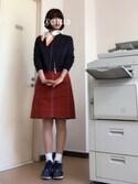 31さんの「靴下屋/消臭ナイロンソックス 22cm~25cm(靴下屋 クツシタヤ)」を使ったコーディネート