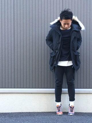 ShiNichiさんの「BY ∴ ビッグ サーマル カットソー -MADE IN JAPAN-(BEAUTY&YOUTH UNITED ARROWS ビューティアンドユースユナイテッドアローズ)」を使ったコーディネート