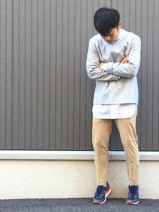 ShiNichiさんの「◇EDBT400 コンパクトカルゼテーパードパンツ(EDIFICE エディフィス)」を使ったコーディネート