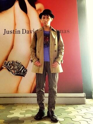 こづ堂さんの「STITCH BOWLER HAT(moussy|マウジー)」を使ったコーディネート