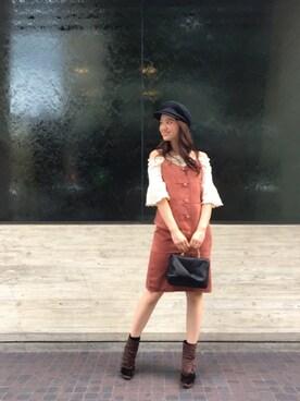 MERCURYDUO 中川真梨さんの「Ribbonミドルバッグ(MERCURYDUO)」を使ったコーディネート