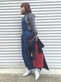 中石みきさんの「2wayバケツ型バッグ(CITRINE Chakra|シトリンチャクラ)」を使ったコーディネート