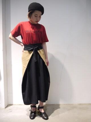 MIDWEST NAGOYA WOMEN|tomimuraさんの(MM6|エムエムシックス)を使ったコーディネート
