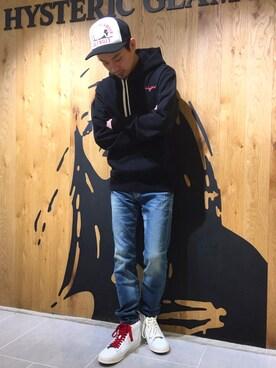 HYSTERIC GLAMOURルミネエスト店|Shuto Kinoshitaさんの(HYSTERIC GLAMOUR|ヒステリックグラマー)を使ったコーディネート