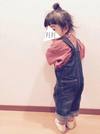 pepeさんの「【Champion】チャンピオンビッグシルエット無地ポケットTシャツ(Champion|チャンピオン)」を使ったコーディネート