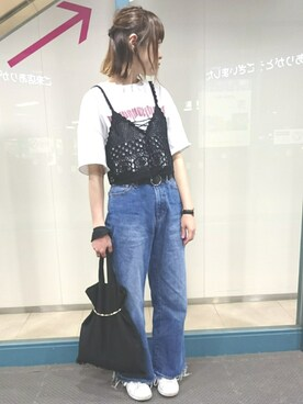 minakoさんの「かぎ針お花ビスチェ(one after another NICE CLAUP)」を使ったコーディネート
