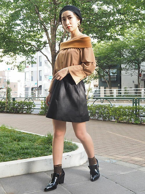 MURUAさんの「シャギー Miniスカート(MURUA)」を使ったコーディネート