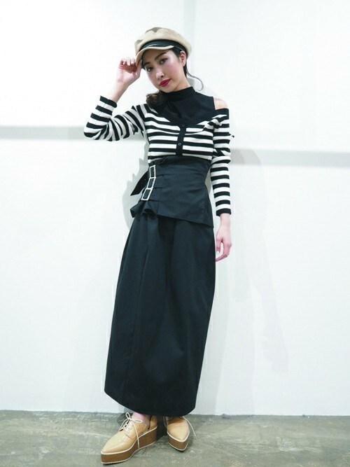 MURUAさんの「2Wayコルセットスカート(MURUA)」を使ったコーディネート