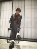 UNITED TOKYO石田優気さんの「シャークソールレザーモカシン(UNITED TOKYO|ユナイテッドトウキョウ)」を使ったコーディネート