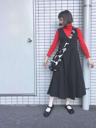 「KBF BIGプリーツジャンパースカート(KBF)」 using this ちょこび looks