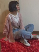 「Converse Chuck Taylor® All Star® 'Sequin Shine Ox' Low Top Sneaker (Women)(Converse)」 using this ちょこび looks