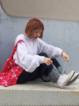 「メンテンBIGBIG Tシャツ【niko and ...】(niko and...)」 using this ちょこび looks