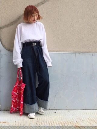 ちょこびさんの「メンテンBIGBIG Tシャツ【niko and ...】(niko and...|ニコアンド)」を使ったコーディネート