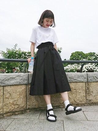 ちょこびさんの「USAC180EビッグTシャツ【niko and ...】(niko and...|ニコアンド)」を使ったコーディネート