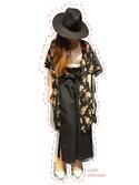 miyunaさんの「ハイウエストリボンベルト付デニムロングスカート4817(merlot|メルロー)」を使ったコーディネート
