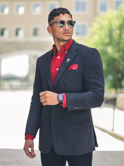 「Ray-Ban Clubmaster Square-Frame Acetate Sunglasses(Ray-Ban)」 using this StrictlyDebonair looks