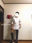 「オックスフォードシャツ(長袖)(ユニクロ)」 using this みっくん looks