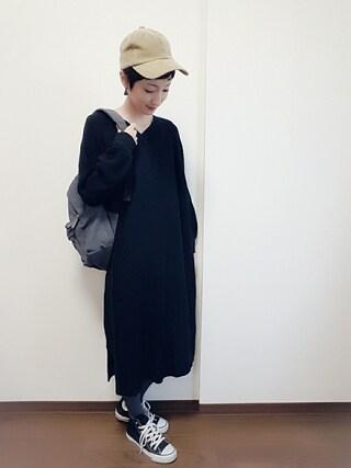 「WEGO/チュールワンピレイヤード5分袖Tシャツ(WEGO)」 using this rii looks