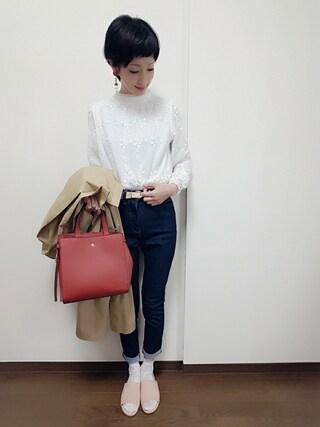 「前結びシャツワンピース4884(merlot)」 using this rii looks