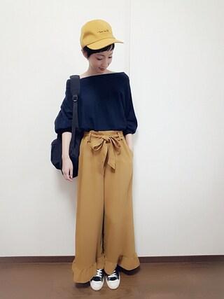 「裾フリルパンツ(archives)」 using this rii looks