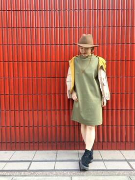 HEAVEN27 大阪|近藤琴巳さんの「MILKFEDxBRIXTON(MILKFED.|ミルクフェド)」を使ったコーディネート
