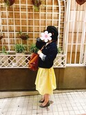 nijiho__saeさんの「【足にフィットするよう履き心地を追求】クッションインソールパンプス(RANDA|ランダ)」を使ったコーディネート
